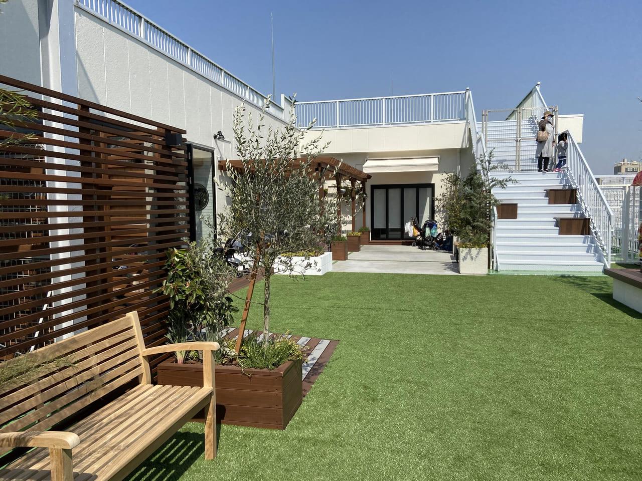 アトレの屋上ガーデン